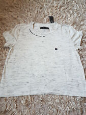 New Women's Abercrombie & Fitch Active Logo Thé size M T-Shirt Heather Grey