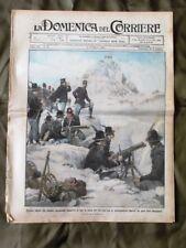 La Domenica del Corriere 6 Marzo 1910 Alpini Incendio in Perù Puledri Padova