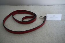 Hartman & Rose Leather Dog Lead 4ft Length Red