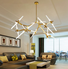 Modern Metal Led Chandelier Tree Branch Pendant Ceiling Fixture 6/10/14/20 Light