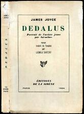 James Joyce : DEDALUS, 1924 - (A portrait of the Artist as a Young Man)