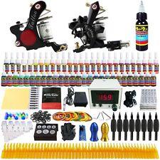 Complete Tattoo Kit 2 Machine Gun 54 Color Ink Needle Power Supply TK225