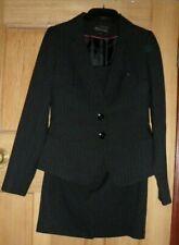 Ladies E-VIE Collection Black Pin Stripe 2 Piece Suit - Size 10