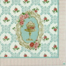 4x Paper Napkins for Decoupage Vintage Cakes and Pastries