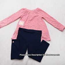 NEW NWT JUICY COUTURE 2pc Girls 18 - 24 month  Pink Blue Legging Set NB / INF
