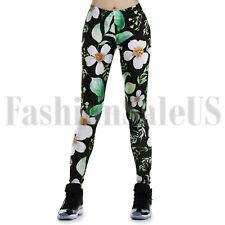 Leggings para Mujer Floral Fitness Compresión Correr Pantalones de Yoga gimnasio entrenamiento Wear