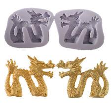 2pcs Chinese Dragon Silicone Mold Fondant Cake Decorating Tools Cupcake Sugar