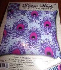 "Design Works PEACOCK Paisley Needlepoint Kit  12"" x 12"" New"