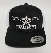 JALISCO MEXICO EL  AViON 701 HAT  MESH TRUCKER BLACK WHITE   ADJUSTABLE  NEW
