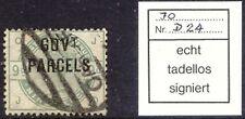 GB 1883 GOVT. / PARCELS genuine overprint QV 9 D green VFU EXPERTIZED PRÖSCHOLD