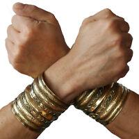 Armreif Set 2 STK Armspangen Gold Reif Kelten Larp Mittelalter Druiden Cuff 8cm