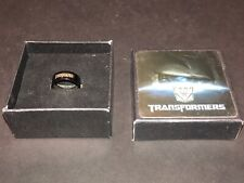 Transformers Black Ring Size 9 With Logo