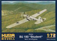 """Bücker Bü 180 """"Student"""" Sport- / Schulflugzeug 1:72 Huma Modell 3008 Luftwaffe"""