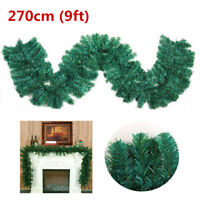 Garland Christmas Decoration Xmas Fireplace Mantel Tree Pine Green 2.7Mx25CM New