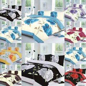 DUVET COVER  QUILT COVER SET WITH PILLW CASES  OR CURTAINS (ROSLEEN )