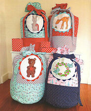 CHRISTMAS TOY SACKS - Applique Sewing Craft PATTERN - Christmas Shabby Chic