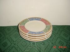 "4-PIECE MAJESTICWARE ""PERSIA"" 6 1/2"" SAUCERS/GRN-CORAL-LAV/STONEWARE/CLEARANCE!"