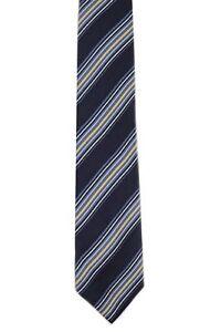 "DOCKERS Boys' 100% Silk Neck Tie Striped Navy Blue 3"" x 50"""