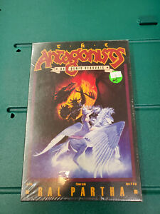 Ral Partha 10-450 The Antagonists (Female Wizard on Pegasus vs Warlord & Dragon)