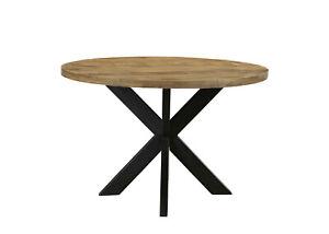 runder Tisch rund Esstisch Mango massiv Massivholztisch Modern Rustik Ø 90 cm