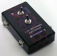 """1/4"""" TRS Stereo A/B/Y Switch Splitter Adapter Headphone Toggle A,B,or Both InOut"""