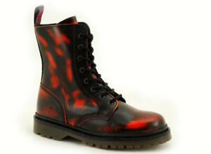 Nevermind  8 Loch Boots Black Orange RubOff 10-120080-8 !Kein Fernost Import !