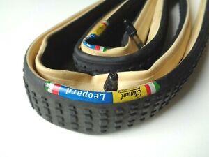 *Rare NOS Vintage 1980s CLEMENT Leopard cyclo-cross 700c tubular tyres (pair)*