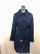 Michael Kors Women Medium Long Lined Trench Rain Jacket Coat Black  *AS IS
