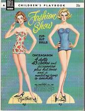 Vintage Uncut 1962 Fashion Show Paper Dolls~#1 Reproduction~Rare Dell Set~Pretty