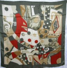 New Charmeuse Silk Scarf - Unique Modern Art Piece