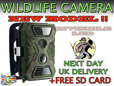 Vidéo hd wireless 12MP faune Scoutisme Trail caméra infrarouge + carte sd gratuit uk