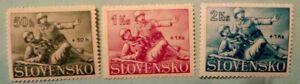 SLOVAKIA 1941, MEDICAL CORPS, SEMIPOSTAL, SET OF 3, MNH, FREE SHIPPING!!!
