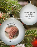 PERSONALISED PHOTO MEMORIAL CHRISTMAS BAUBLE Remembrance In Loving Memory Gifts