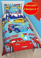 DISNEY CARS CHAMP SINGLE DUVET QUILT COVER REVERSIBLE KIDS BOYS BEDDING SET