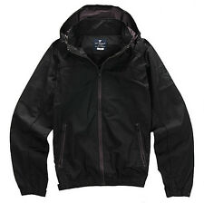 NII Mens Casual Zipper Line Color Detailed Windbreaker Jacket Black Size L NWT