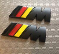 2 X ///M Sport M Power German Flag Wings Metal Badge BMW 1,2,3,4 5 X5 UK Stock