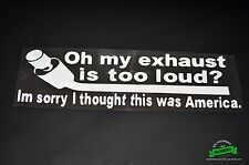 Loud Exhaust Sticker Vinyl Decal illest Turbo Ships From NY