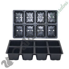 15 X 8 Cell Full Size Seed Tray Inserts Plug Trays Bedding plant Packs Plastic