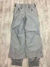 Bonfire Gray Nylon Cargo Snowboard Ski Snow Waterproof Pants Adult Men Women S