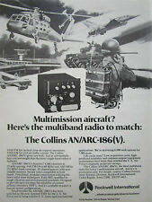 9/1980 PUB ROCKWELL COLLINS AVIONICS ARC-186 (V) VHF FM RADIO USAF ORIGINAL AD