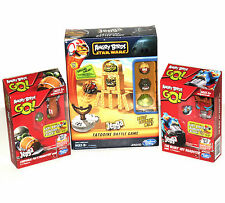 Lot of 3 Angry Birds Jenga Games STAR WARS Tatooine Battle and Go! Roadsters