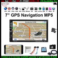 7''GPS 2 Din écran Tactile Autoradio+Caméra TF BT FM DVR MP5 Lecteur Lien Miroir