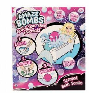 Girls Amaze Bombs Grow Your Own Mermaid Scented Bath Bombs Creative Set Gift