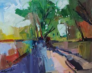 JOSE TRUJILLO Oil Painting IMPRESSIONISM ORIGINAL LANDSCAPE 16X20 LARGE MODERN
