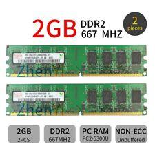 Para Hynix 4GB 4G (2x 2GB)/1GB PC2-5300 DDR2-667MHz 240PIN Lote de memoria DIMM Kit