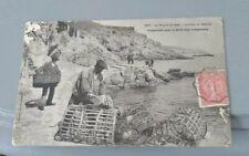 CPA Karten Bost la pointe du Raz port Bestrée préparatifs pêche langouste ca1900