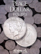 H.E. Harris Peace Dollars Coin Folder 1921-1935 #2709