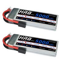 2pcs HRB 11.1V 5000mAh 3S LiPo Battery 50C-100C Traxxas for Traxxas RC Car Truck