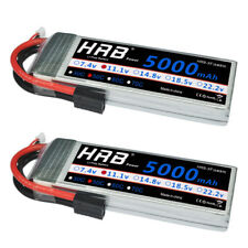 2pcs HRB 11.1V 5000mAh 3S LiPo Battery 50C-100C Traxxas for Traxxas RC Car Truck