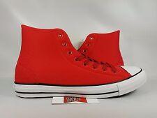 Converse Chuck Taylor All Star High Top CASINO RED WHITE NYLON 153971C sz 11